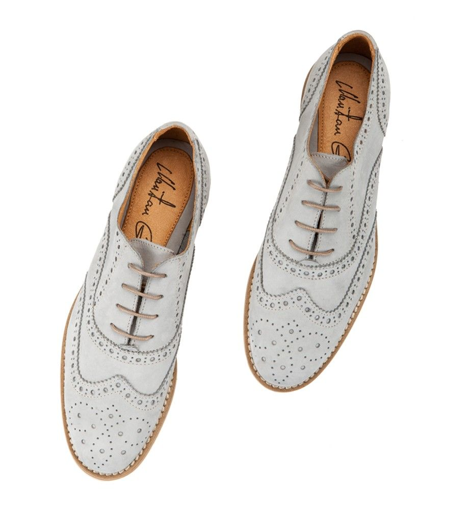 991ae1cb2589 Fratelli Karida Light blue suede lather oxford perforated women brogues   shoes  brogues  oxfords  womenbrogues