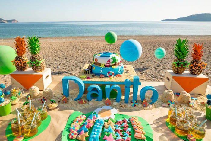Fiesta tropical en la playa para ni os fiestas mpg for Ideas para cumpleanos en piscina
