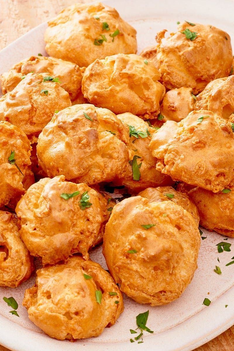 How To Make Cheese Gougeres Recipe Cheese Puffs How To Make Cheese Vegan French Recipes