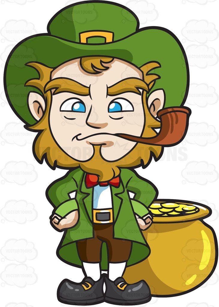 A leprechaun smoking a pipe pipes a leprechaun smoking a pipe cartoon clipart vector toons altavistaventures Choice Image
