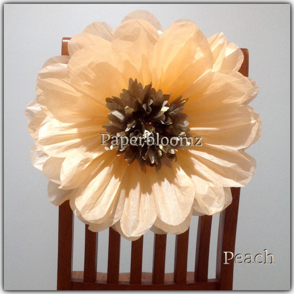 Paperbloomz large paper flowers x 5 bulk with meltalic gold centre paperbloomz large paper flowers x 5 bulk with meltalic gold centre wedding decor mightylinksfo