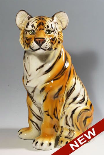 Ceramic Tiger Sculpture | Lion Statues for Sale | Animal