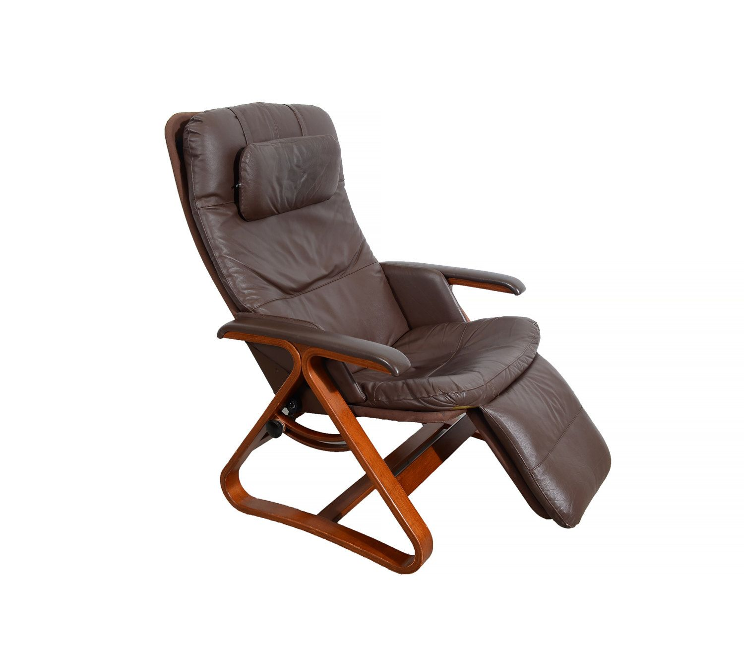 Leather lounge chair backsaver zero gravity chair danish for Modern leather club chair