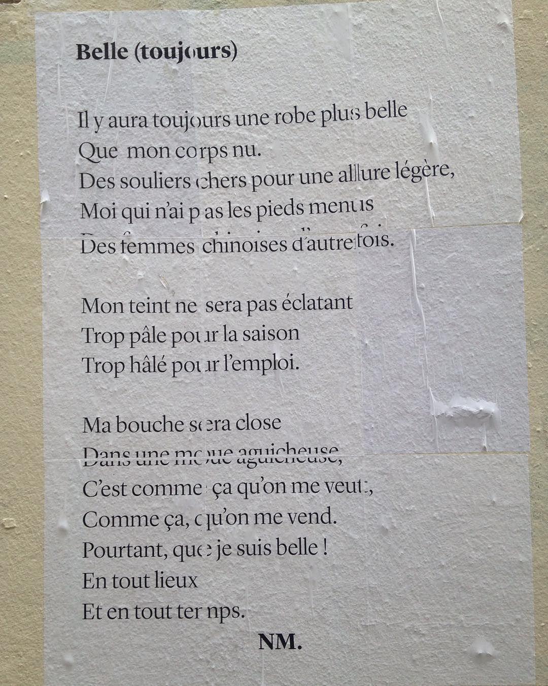 #poeme #mots #words #sens #streetart #streetarteverywhere #streetartphotography #wall #bordeaux #bordeauxmaville #belle #beauty #instagram #instagramers #instadaily #reflection #poet #poemoftheday #poemsofinstagram by slepolard