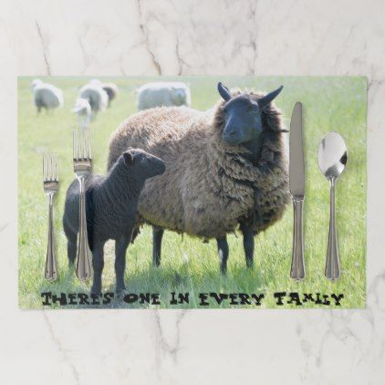 Funny There S A Black Sheep In Every Family Paper Placemat Zazzle Com Placemats Sheep Black Sheep