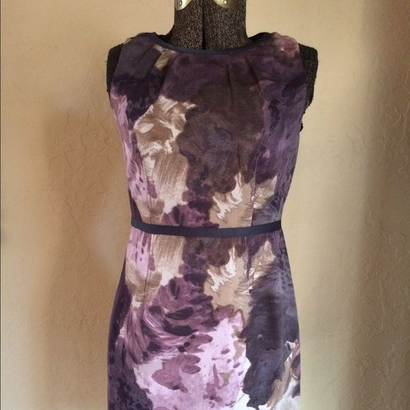 Loft // Petites Loft // Petites // Small // Ruching on neckline // Ribbon trim on neck and waist // Never worn. LOFT Dresses