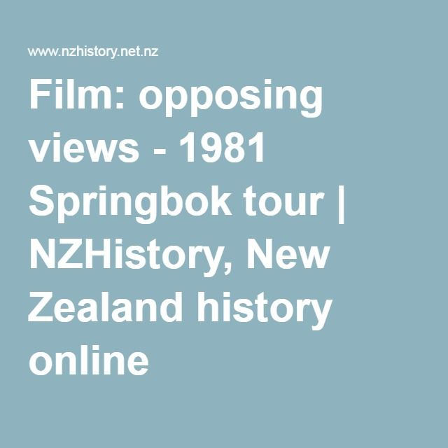 Film: opposing views - 1981 Springbok tour. A 1981 All Black, Doug Rollerson, and flour-bomb pilot Marx Jones provide opposing views on the tour in this 2006 interview.