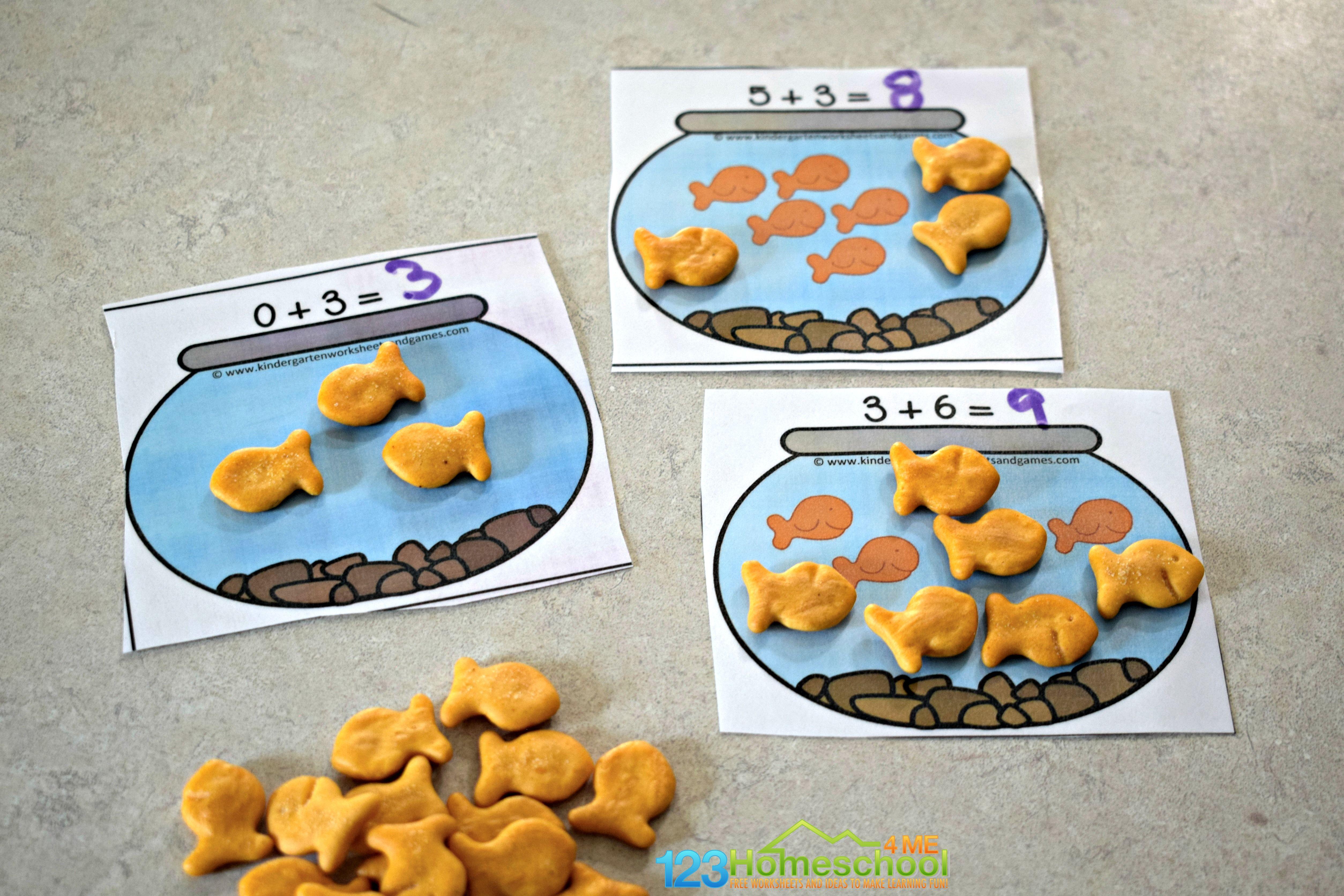 Hands On Goldfish Addition Practice
