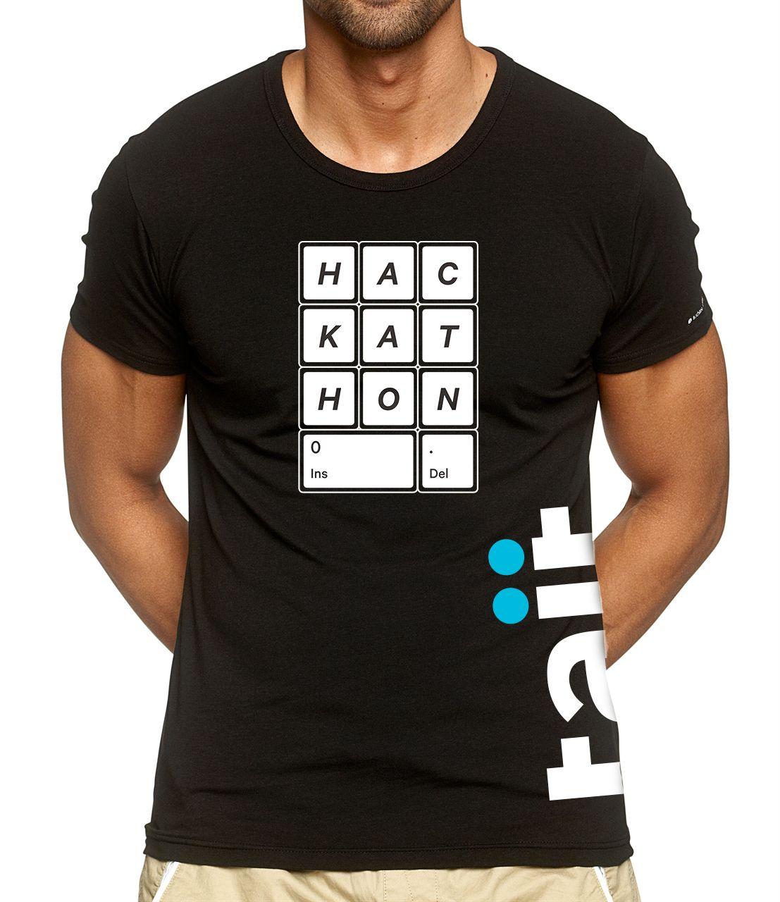 T shirt design queenstown - The New Hackathon Logo Sponsored By Tait Communications T Shirt Design Was