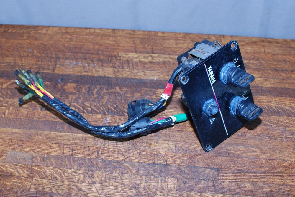 Yamaha Outboard Dual Key Switch Ignition Panel Yamaha