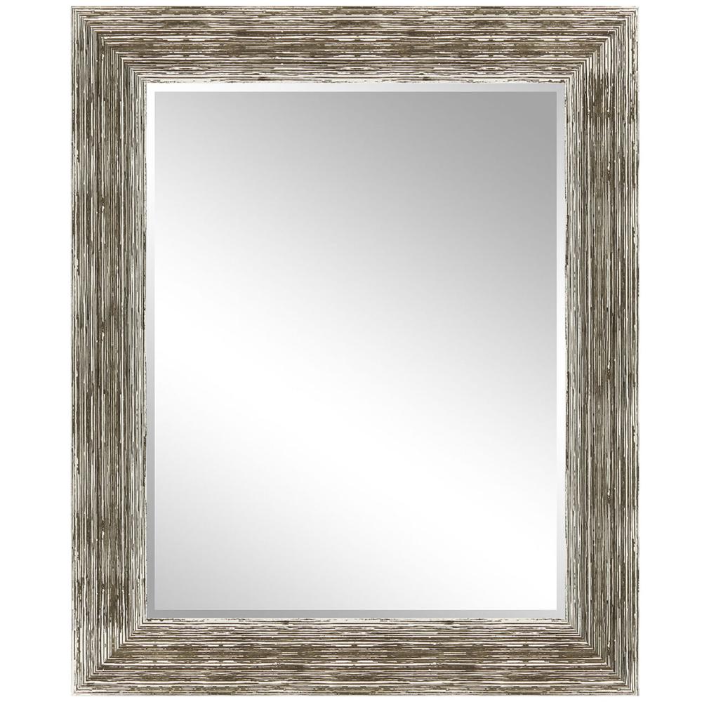 "White/Brown Barnwood Mirror, 22"" x 28"" FREE Store Pickup 7"