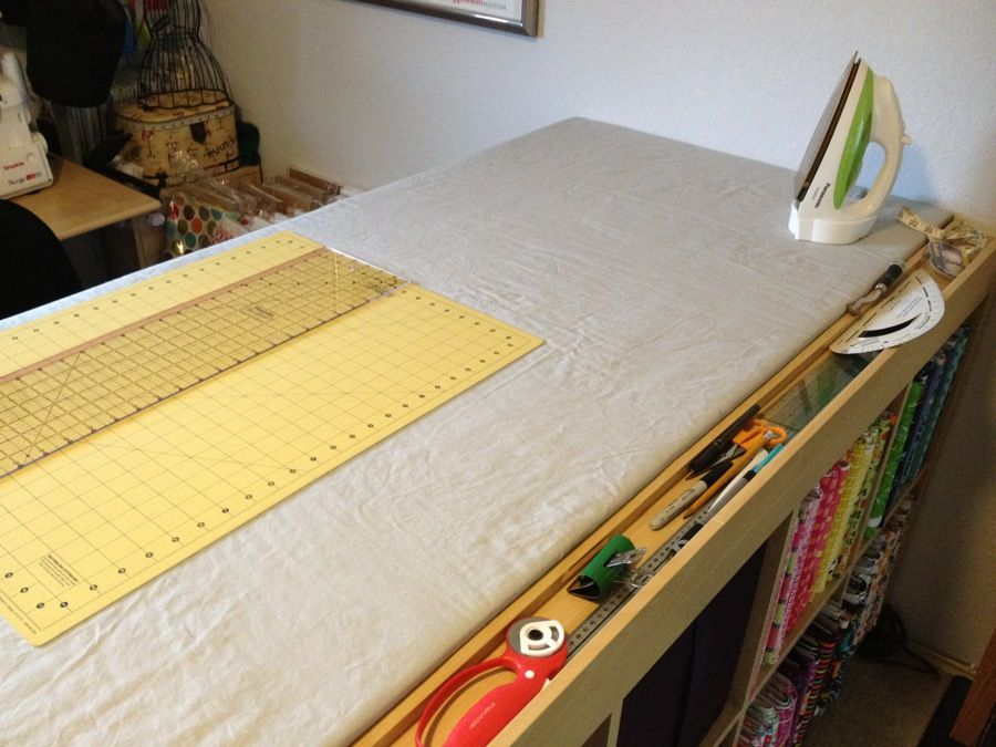Beautiful Expedit Sewing/crafting/cutting Table   IKEA Hackers