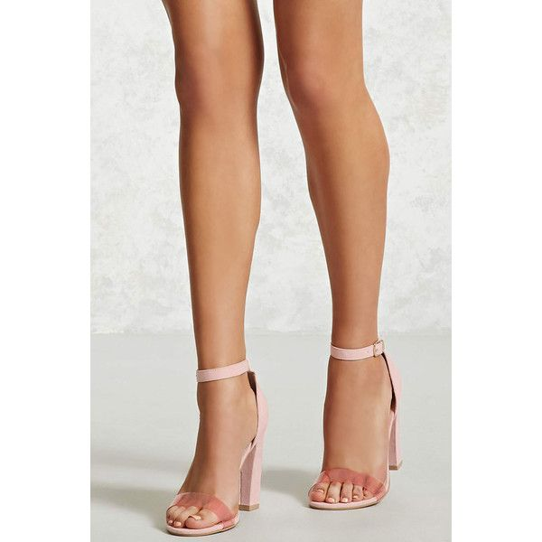 b312895706 Forever21 Iridescent Faux Suede Heels ($30) ❤ liked on Polyvore featuring  shoes, pumps, pink, pink high heel shoes, forever 21 shoes, forever 21  pumps, ...