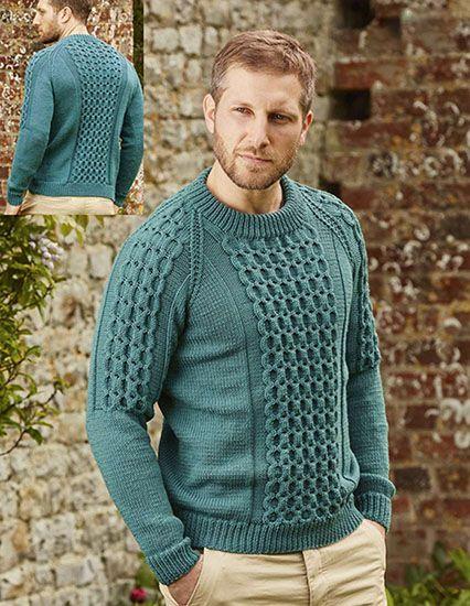 Mens Sweater Knitting Pattern Martin Pinterest Sweater