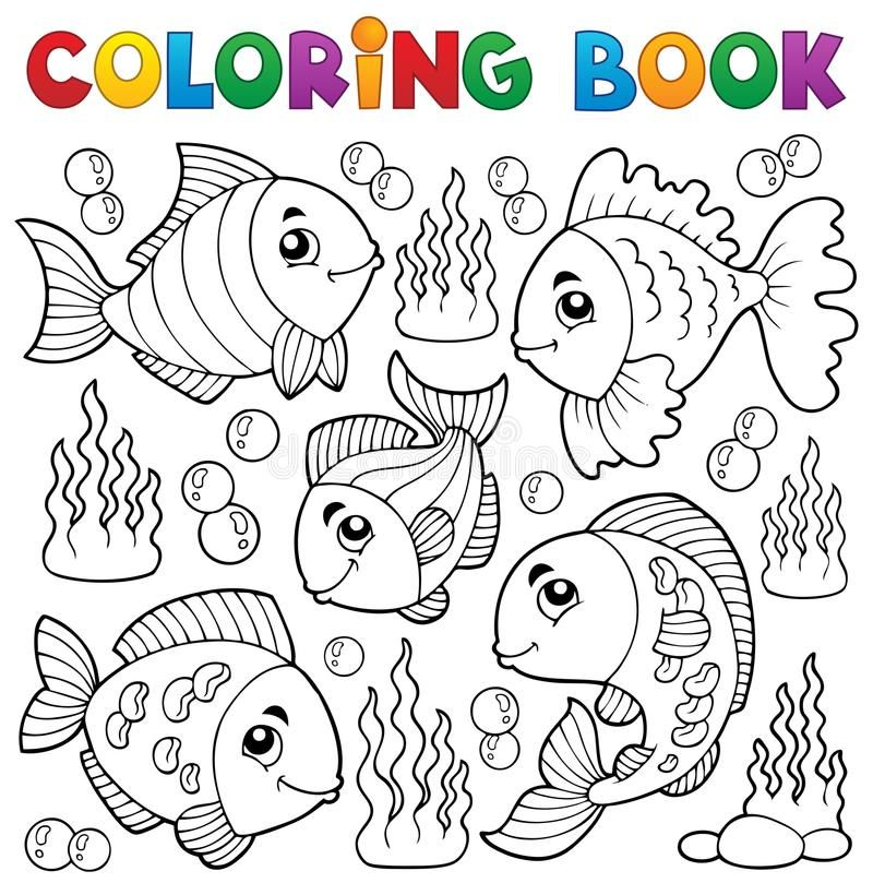 Coloring Book Various Fish Theme 1 Eps10 Vector Illustration Sponsored Fish Theme Coloring Bo Coloring Books Butterfly Coloring Page Coloring Pages
