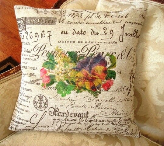 pillow slip cover French Script Pillow Slip by gatheredcomforts, $32.00
