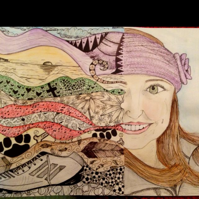 Kaitlyns Symbolic Self Portrait One Proud Art Momma Pinterest