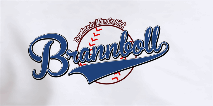 Brannboll Font Mans Greback Fontspace Baseball Font Cool Fonts Typography