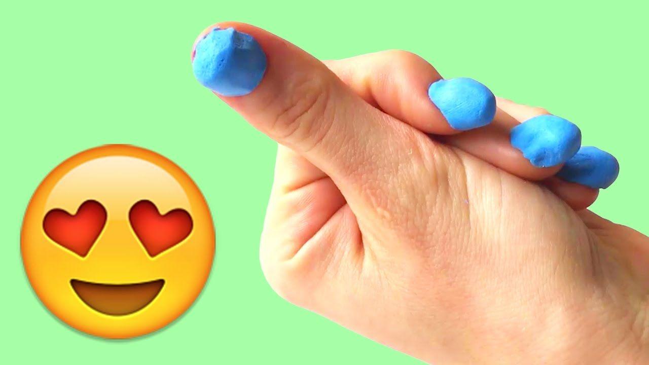 DIY Play Doh Nails - How to make fake nails with playdough   Play ...