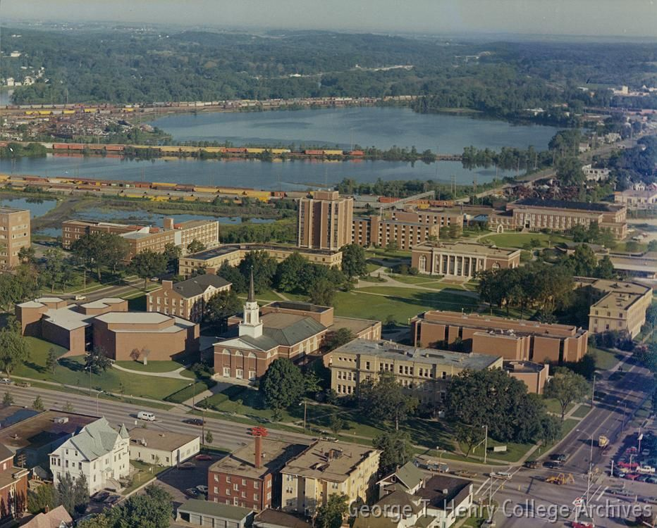 coe college campus map 1970s Aerials Of Coe College Campus A Collection Of Aerials Spanning 70 Years From The 1930s To The 1990s Along Side A Coe College College Campus Aerial coe college campus map