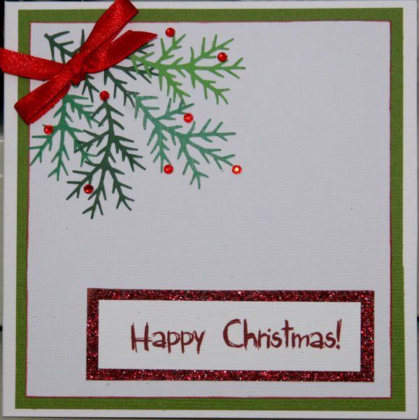 Card Ferny Christmas card Greeting card ideas Pinterest Card