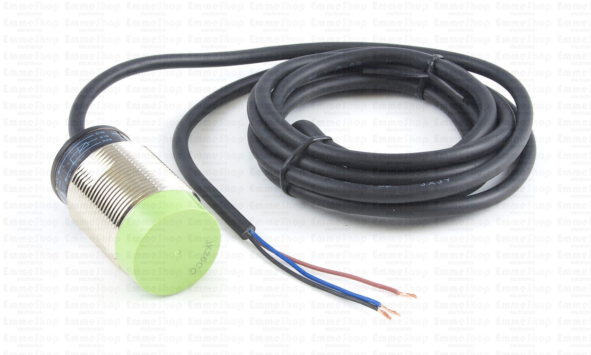3527_0 - Autonics PR30-15DN Inductive Proximity Sensor - 15mm This inductive sensor can detect metallic objects within 15mm and behaves like a switch that connects to a digital input.