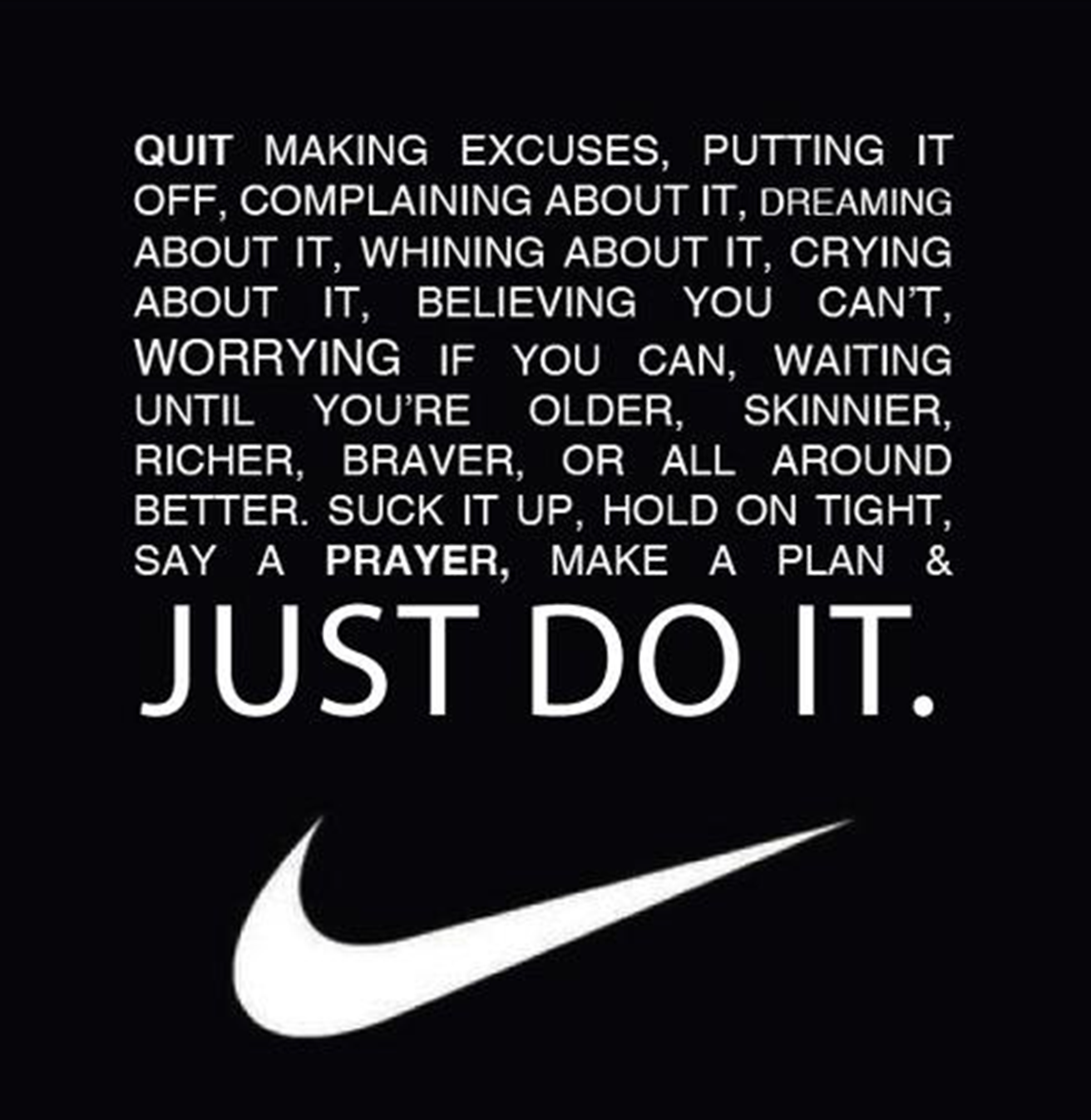 Just Do It Quotes Advice From Nike That I Think Works Well For Your Career Path As