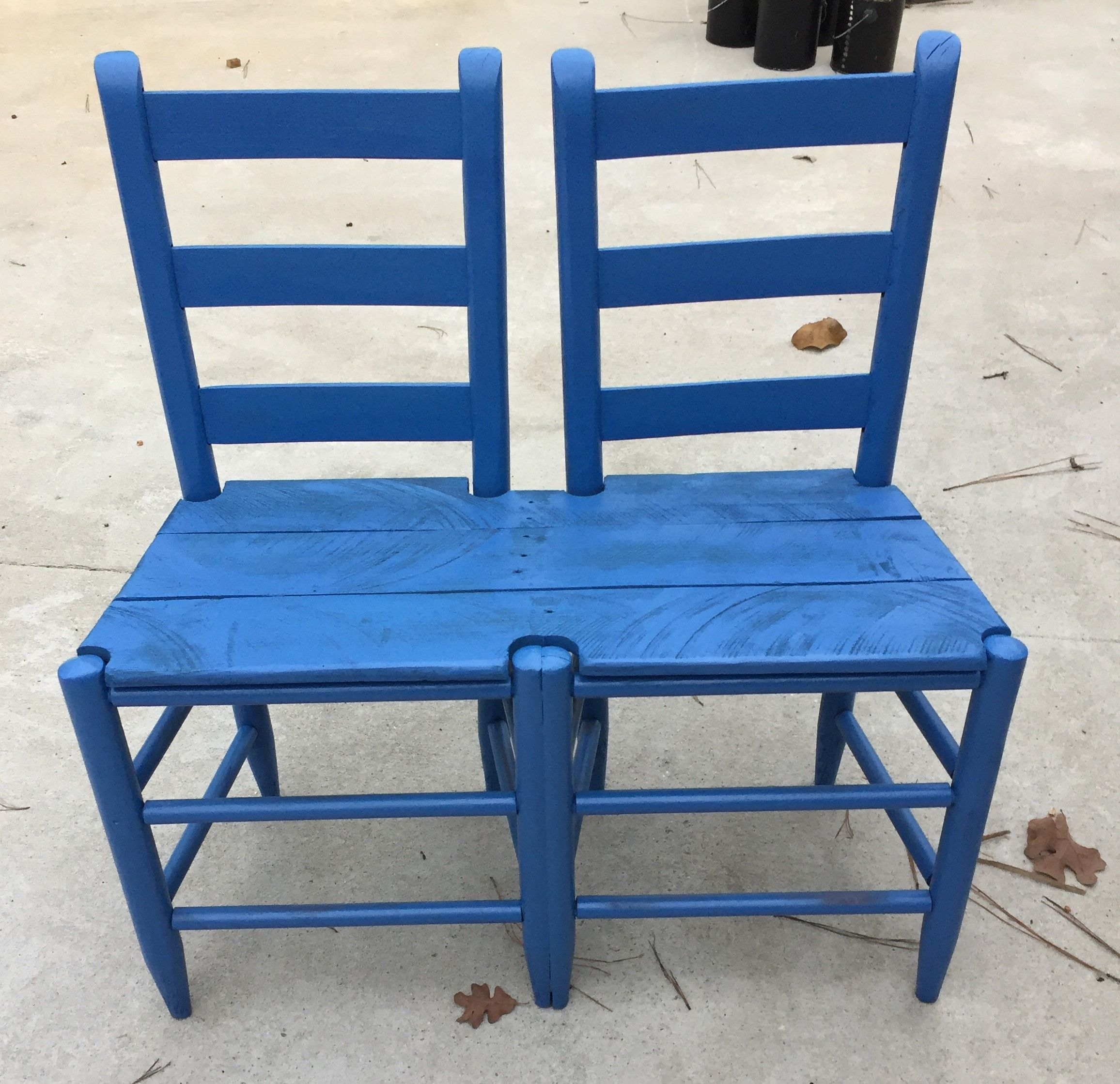 Ladder back chairs with bottoms removed recycled into a child\'s ...