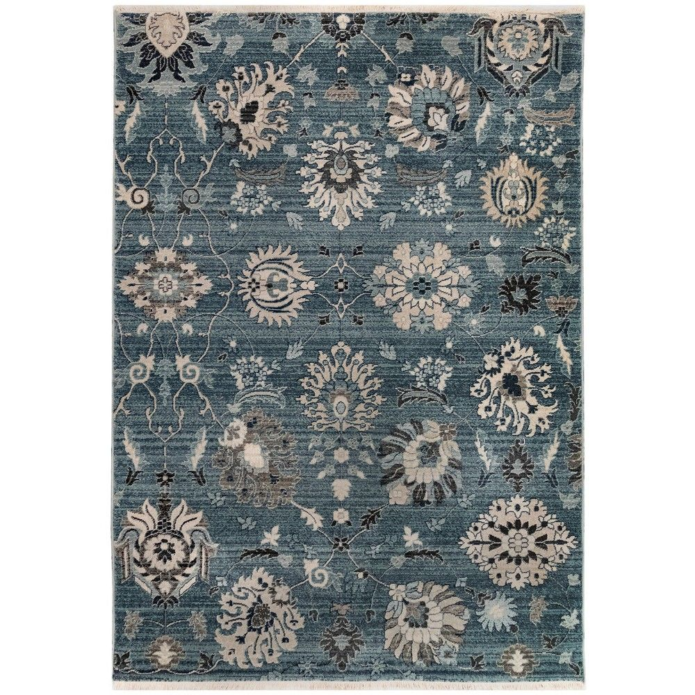 7 10 X10 Floral Woven Area Rug Blue Liora Manne Vintage Floral Rugs Floral Rug Liora Manne