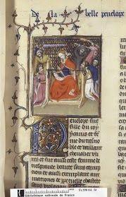 Arachne (fol. 29) and Penelope (fol. 58), De mulieribus claris (BNF Fr. 598), beginning of the 15th century