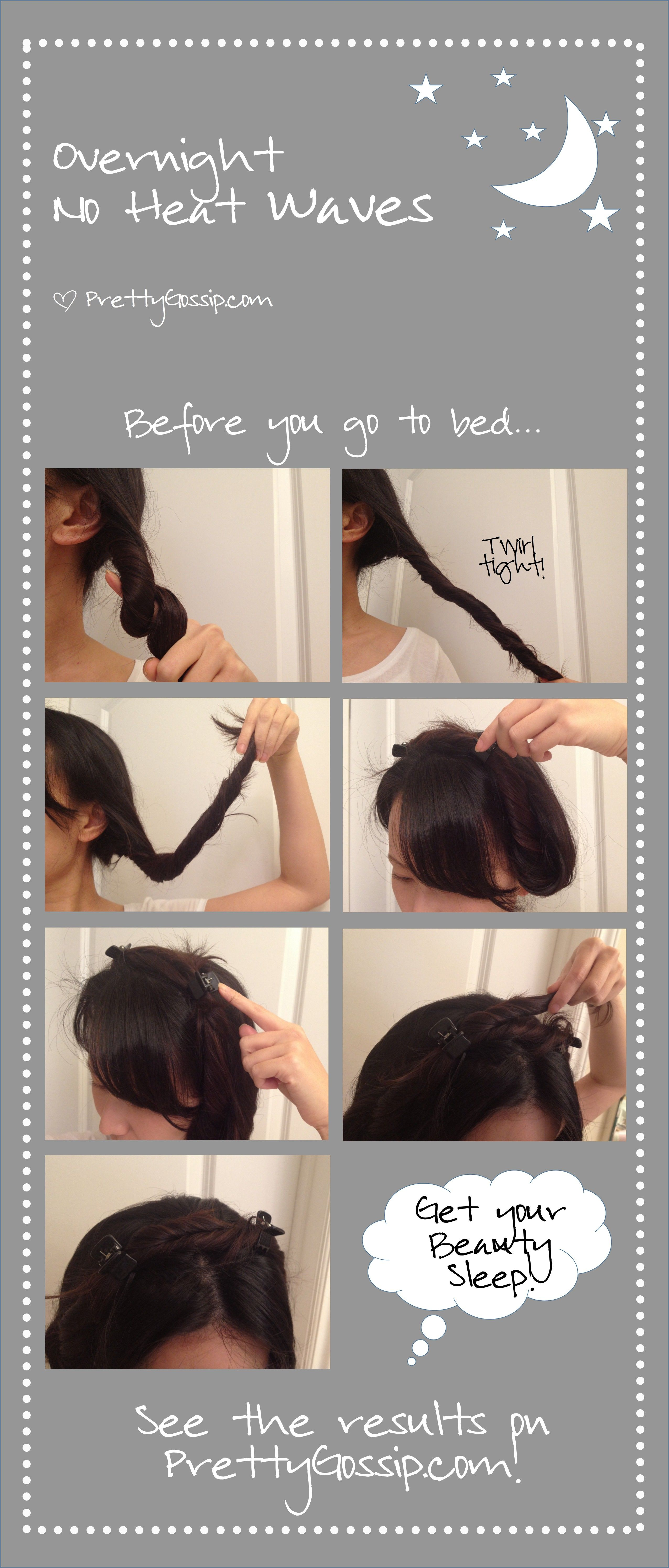 How To Get Beachy Waves With No Heat Pretty Gossip Wavy Hair Overnight Hair Without Heat Curls No Heat