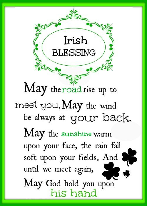 Irish blessings ever day free printable