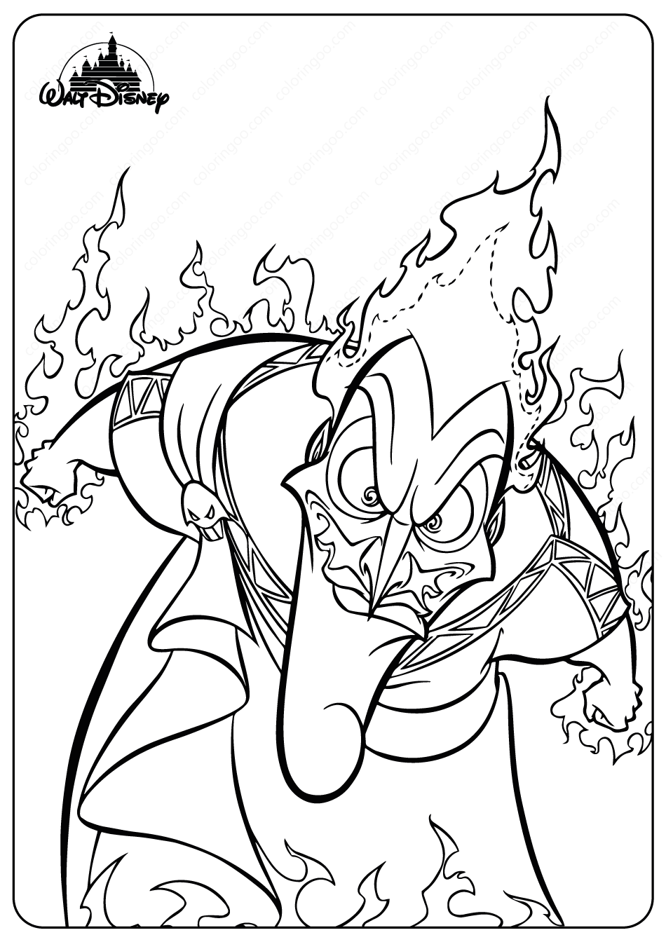 Printable Disney Evil Hades Coloring Pages High Quality Free Printable Coloring Drawing Pa In 2021 Disney Princess Coloring Pages Coloring Pages Baby Coloring Pages