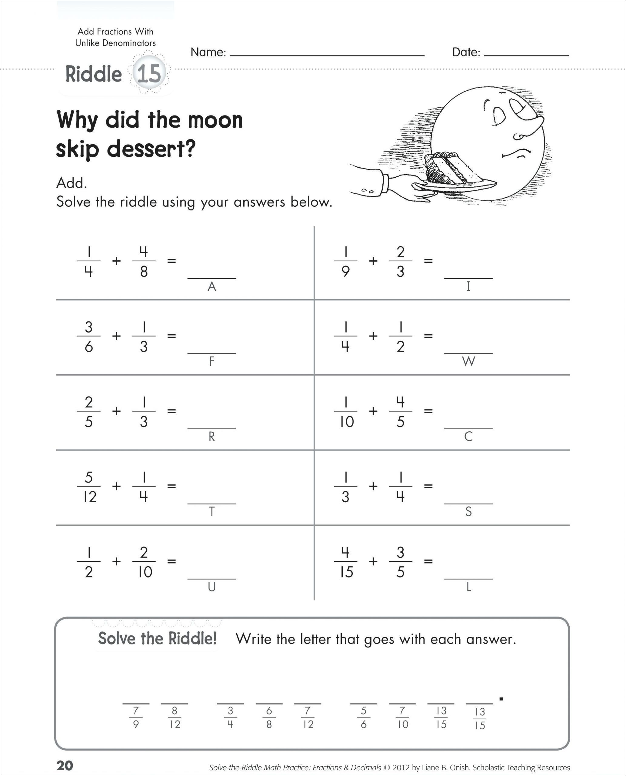 4 Free Math Worksheets Third Grade 3 Fractions And Decimals Adding Fractions Like D Fractions Worksheets Adding And Subtracting Fractions Subtracting Fractions