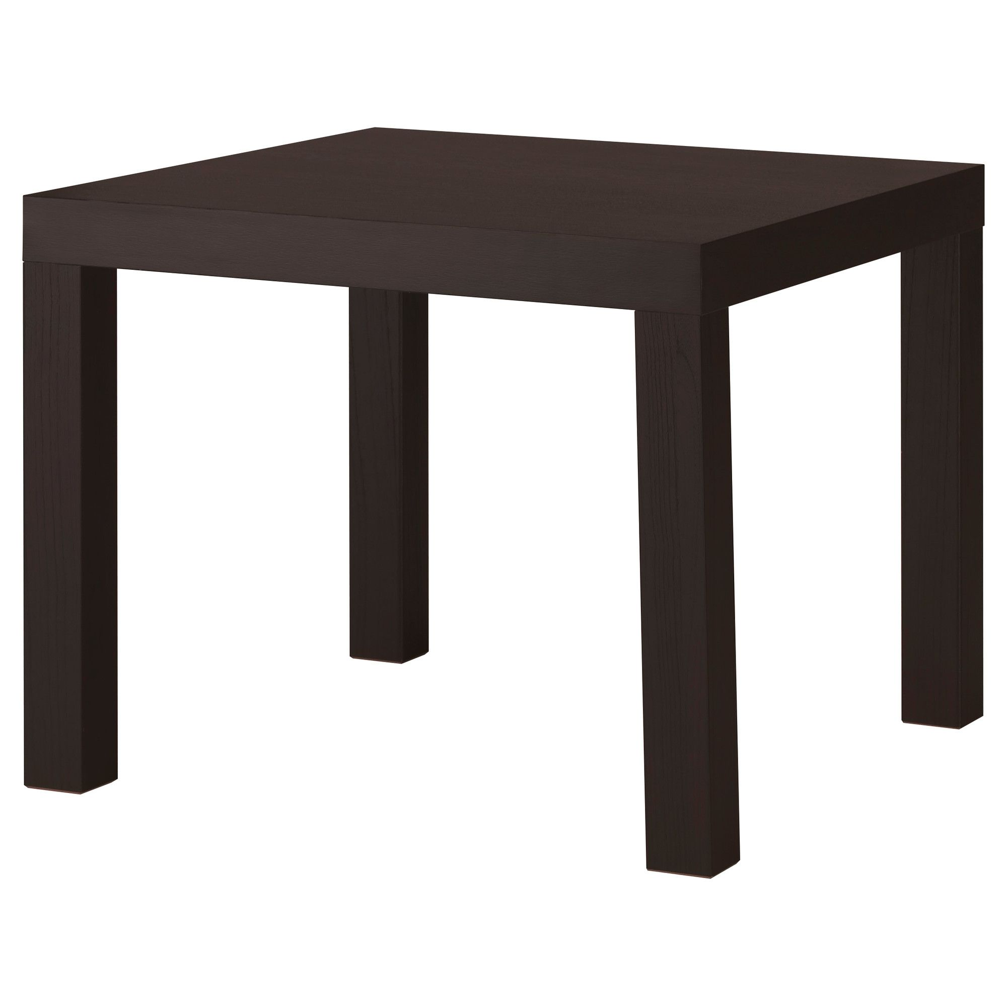 LACK Side table black brown