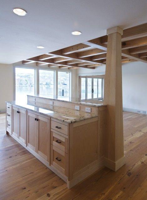 Support post kitchen kitchen columns kitchen benches - Kitchen island with post ...