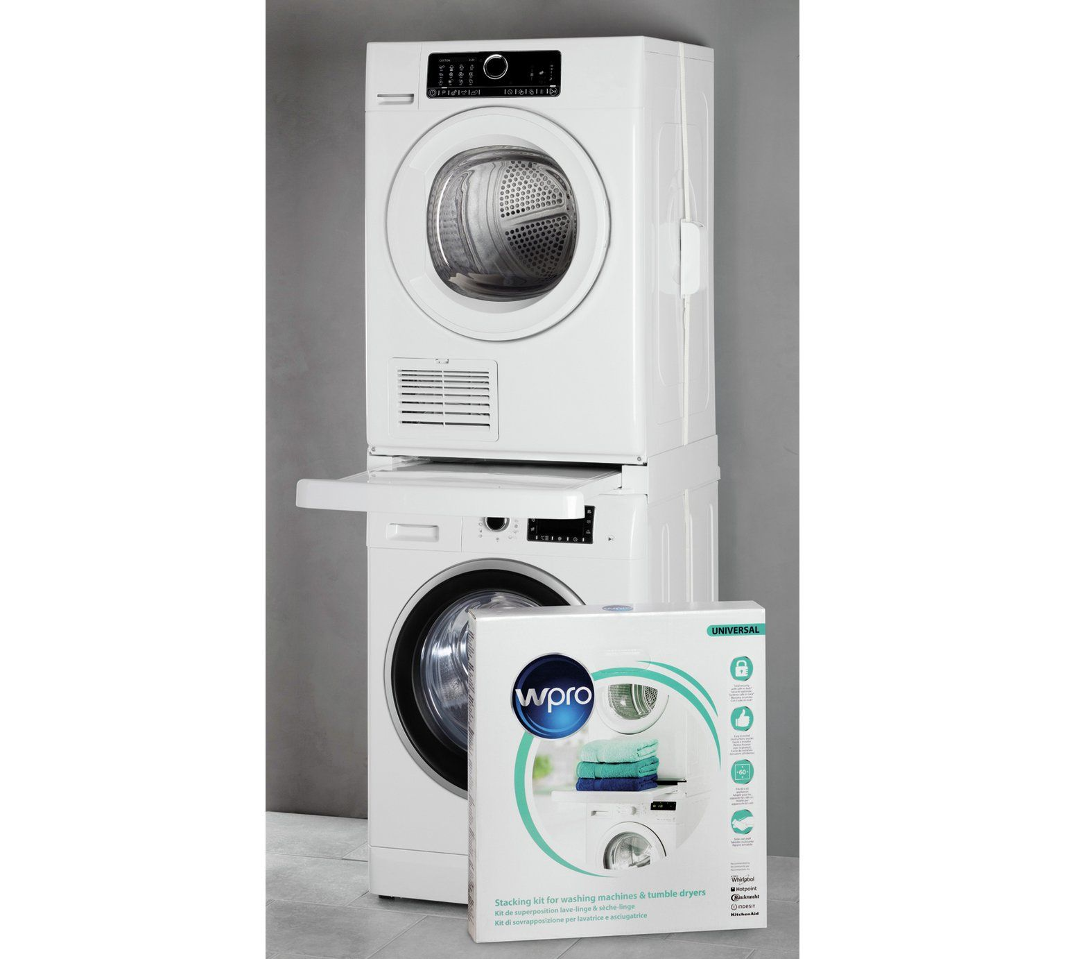 Buy Wpro Tumble Dryer Universal Stacking Kit Large Kitchen Appliance Accessories Argos Kitchen Large Appliances Tumble Dryer Stacking Washing Machine