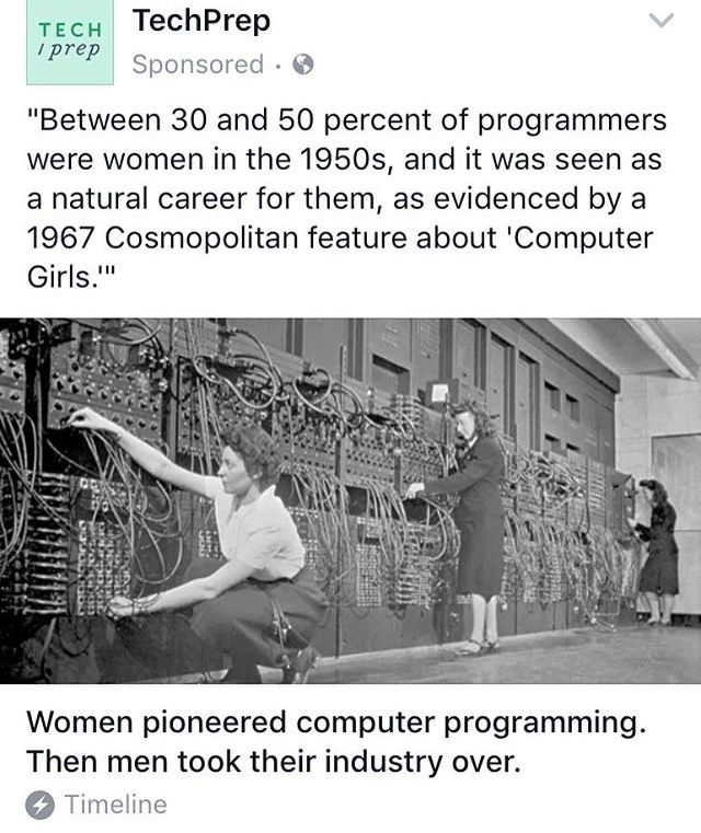 What happened? Did men find out it was lucrative and take over?