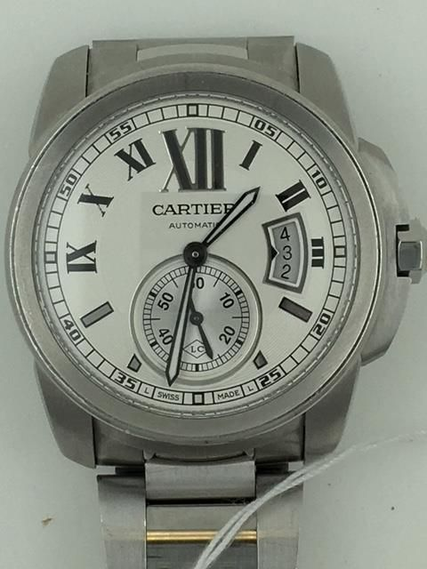 a9ad5713fd3 Cartier Calibre de Cartier 3389 Stainless Steel Men s Automatic Wristwatch