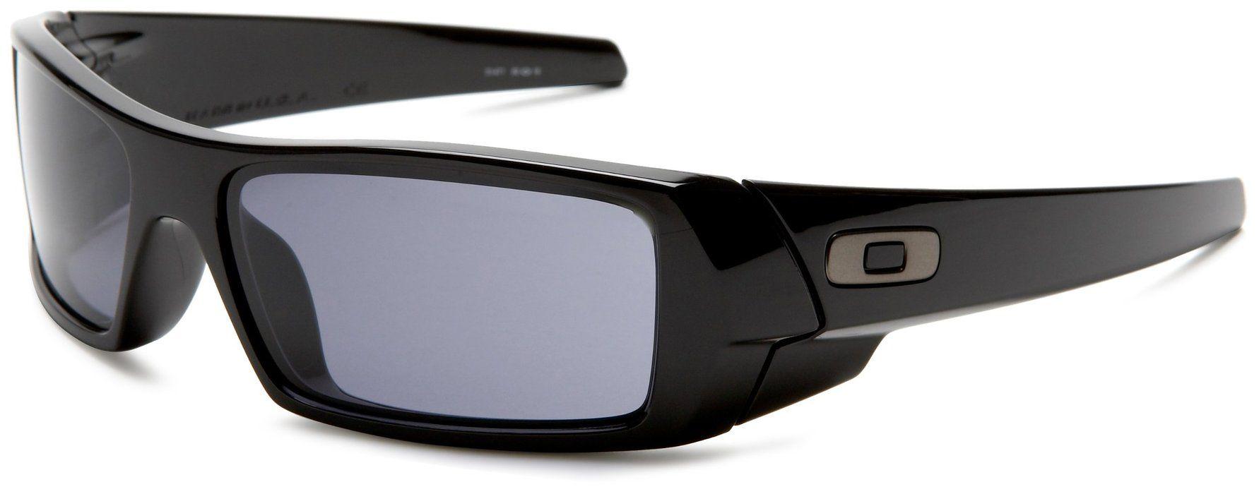 Oakley Men's GasCan Sunglasses,Polished Black Frame/Grey
