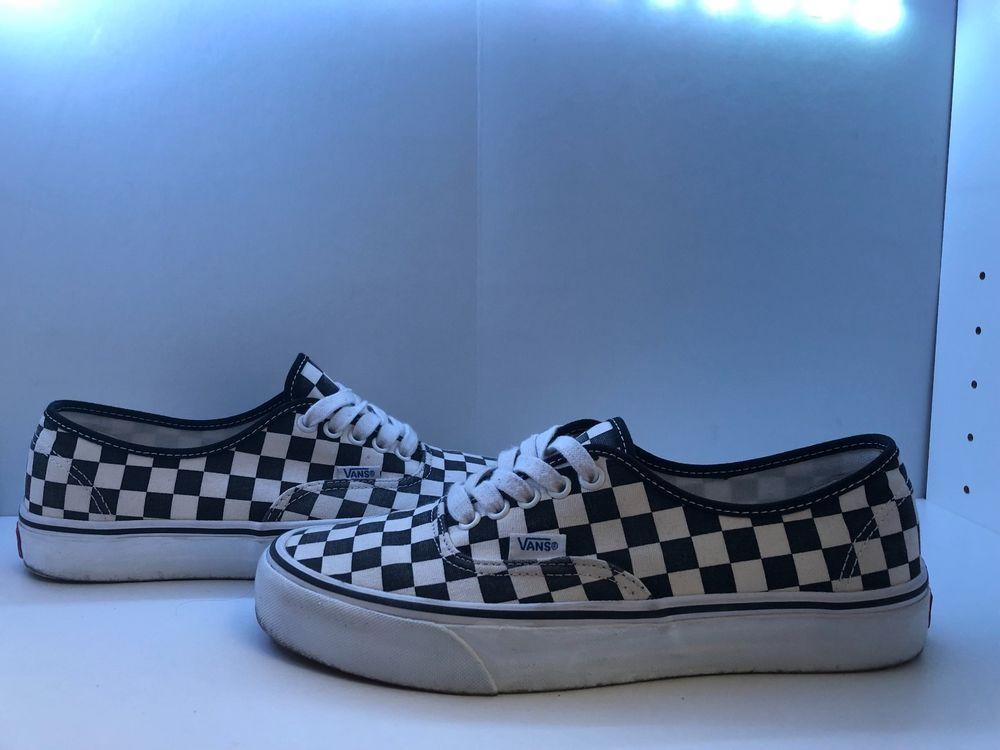 76234a41f01 Checkered Vans SZ 8 MEN   SZ 9.5 WOMEN White Black  fashion  clothing  shoes   accessories  mensshoes  athleticshoes (ebay link)