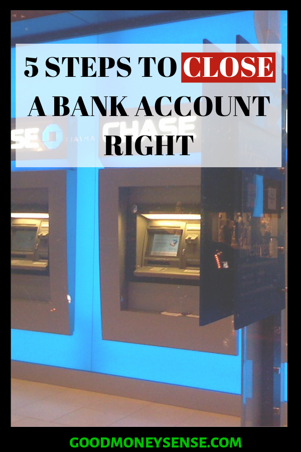 how to close a chase bank savings account