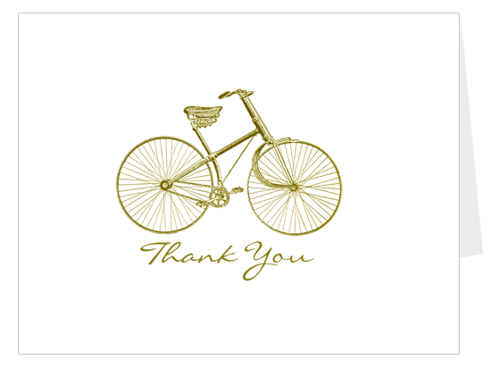 Printable Bicycle Thank You Card (free Download)