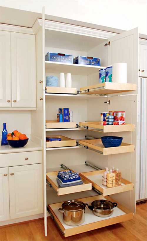 Great idea for those closets that are too deep - like the linen ...
