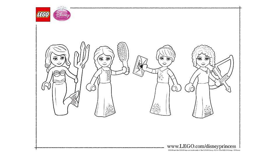 Lego Princesses Coloring Sheet Lego Coloring Sheet Lego