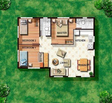 60 Square Meters House Design Buscar Con Google Planos