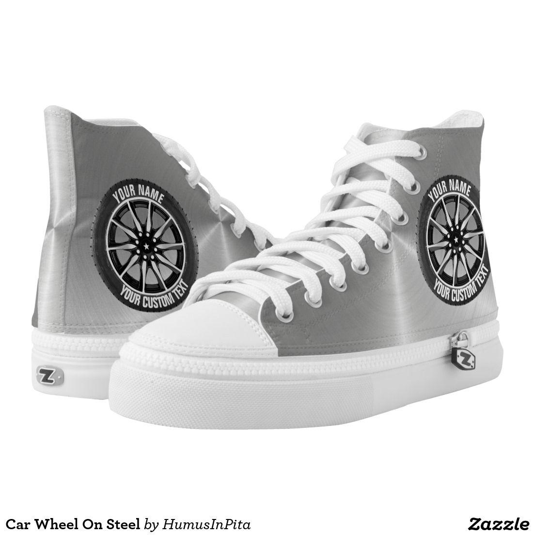 Car Wheel On Steel Printed Shoes