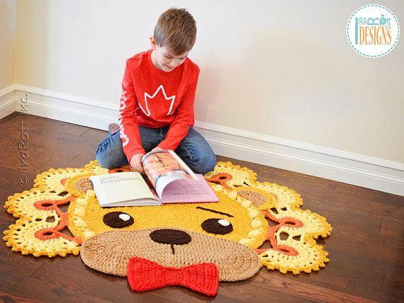 Crochet Pattern Lion Leonardo Rug Pdf Crochet Pattern With Etsy Rug Pattern Crochet Rug Patterns Animal Rug