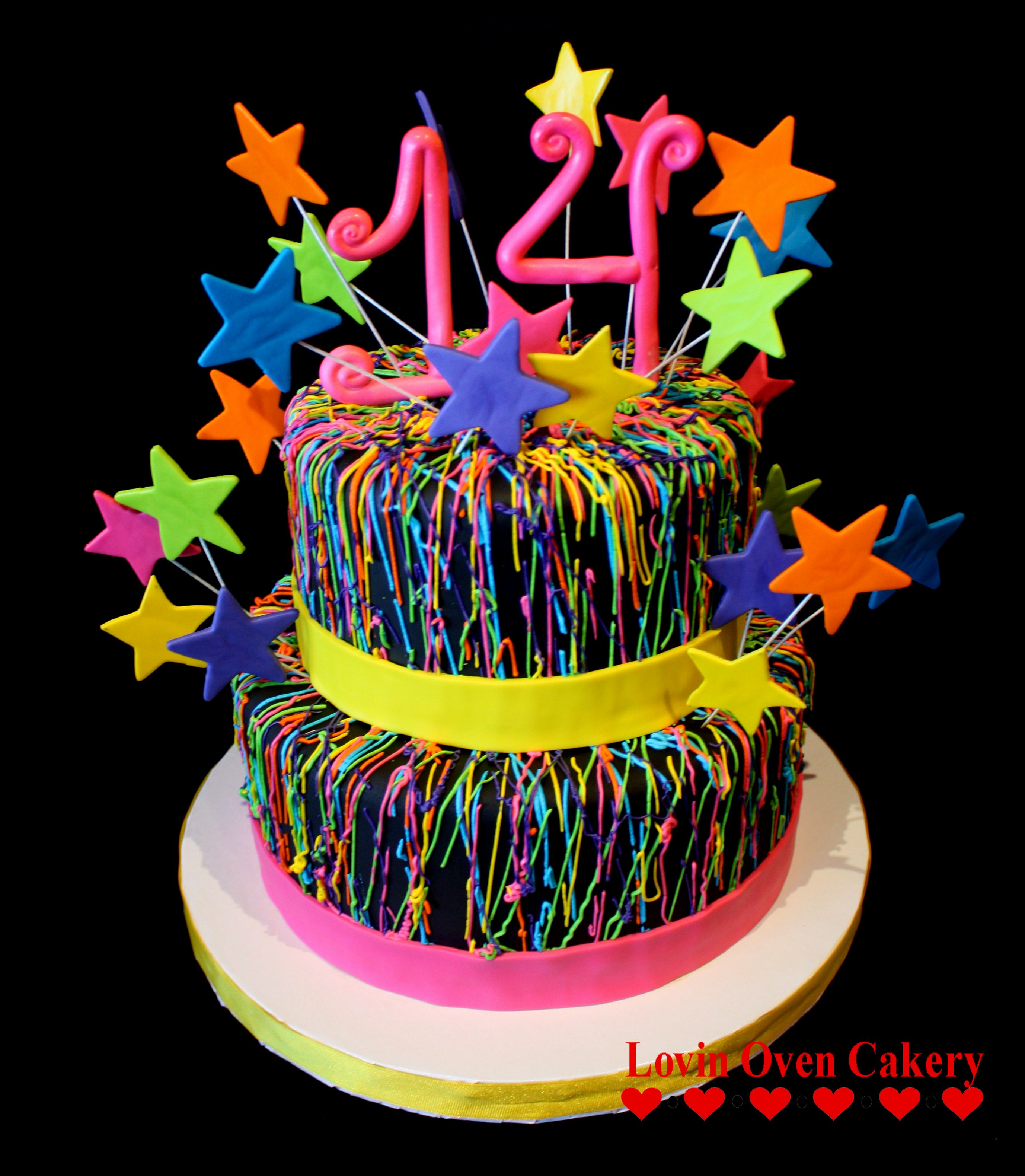 Pin By Lovin Oven Cakery On Birthday Cakes Neon Birthday Cakes