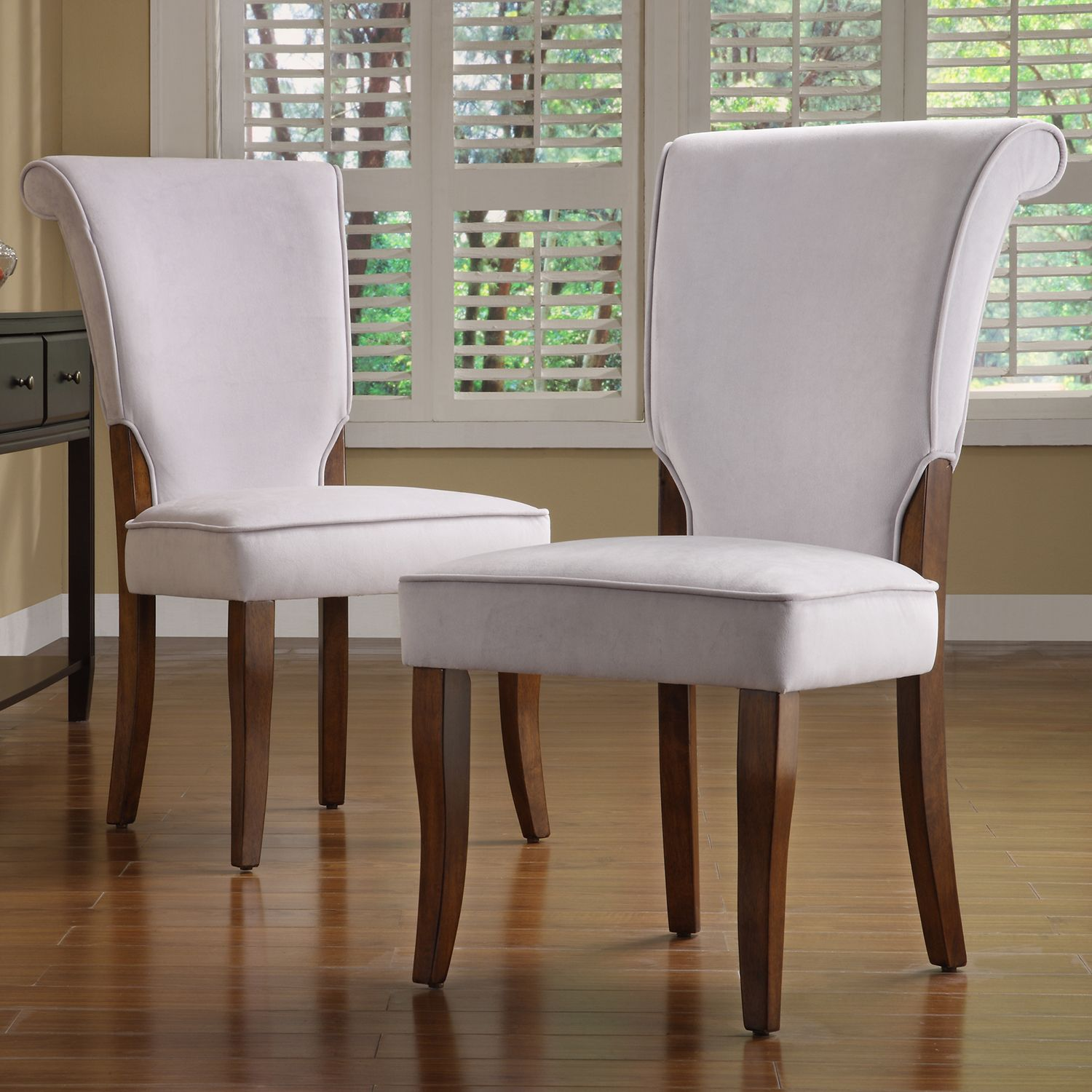 Andorra Grey Velvet Upholstered Dining Chair (Set of 2) by iNSPIRE Q  Classic by iNSPIRE Q
